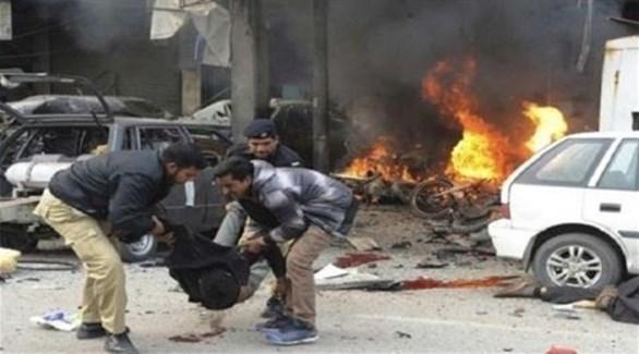 عراقي مصاب في تفجير (أرشيف)