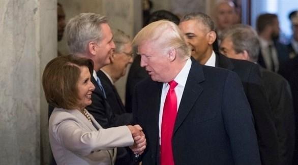 الرئيس الأمريكي دونالد ترامب وزعيمة الديمقراطيين نانسي بيلوسي (أرشيف)