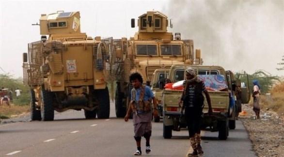 قافلة عسكرية يمنية تتجه إلى مدينة الحديدة (أرشيف)
