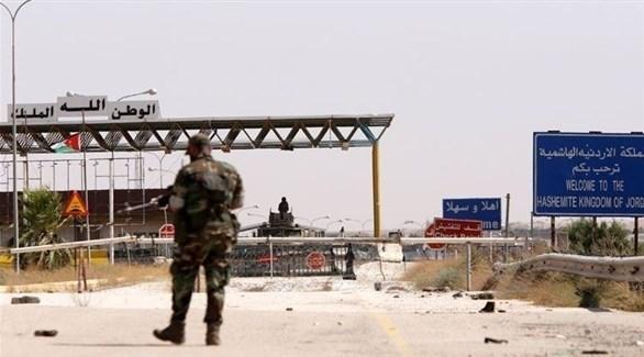 عنصر أمن أردني عند معبر جابر الحدودي مع سوريا (أرشيف)