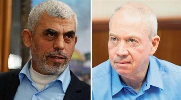 وزير الاستيطان الإسرائيلي يوآف غالانت والقيادي في حماس يحيى السنوار (أرشيف)