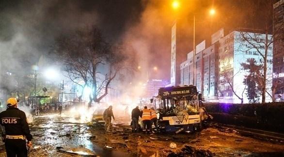 آثار انفجار سابق في تركيا (أرشيف)
