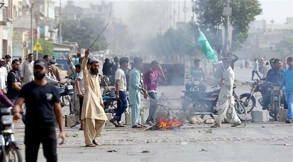 متظاهرون من المتشددين الإسلاميين في باكستان (اي بي ايه)