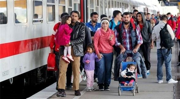 مهاجرون سوريون يصلون من النمسا إلى برلين ألمانيا (أرشيف)