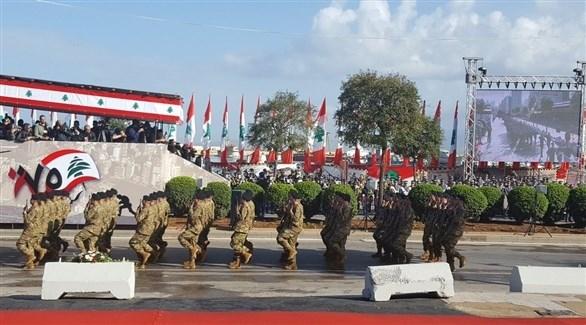 جانب من العرض العسكري في بيروت