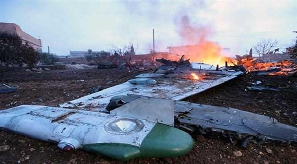 حطام الطائرة الروسية بعد سقوطها (أرشيف)