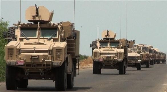 مدرعات عسكرية تابعة للجيش الوطني اليمني (أرشيف)