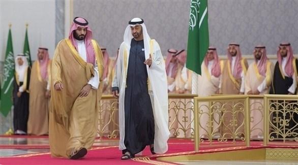 ولي عهد أبوظبي محمد بن زايد وولي العهد السعودي محمد بن سلمان (واس)