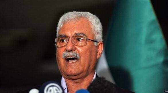 رئيس المجلس الوطني السوري جورج صبرا (أ ف ب)