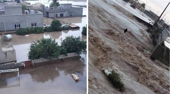 أمطار وسيول في العراق (تويتر)