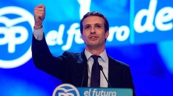 زعيم الحزب الشعبي الإسباني بابلو كاسادو (أرشيف)
