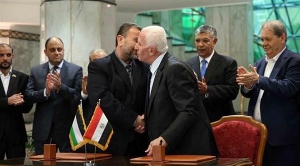 وفدين من حركة فتح وحماس في القاهرة (أرشيف)