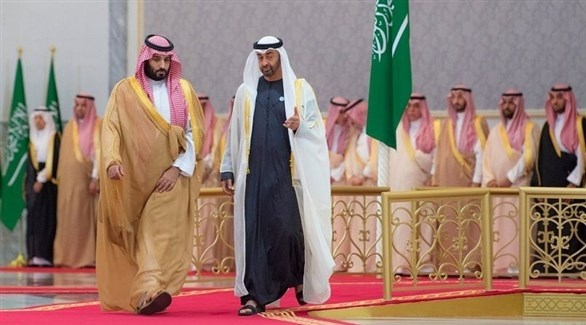 محمد بن زايد مستقبلاً محمد بن سلمان (واس)