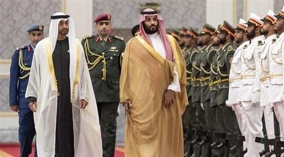 ولي عهد أبوظبي الشيخ محمد بن زايد وولي العهد السعودي الأمير محمد بن سلمان (أرشيف)