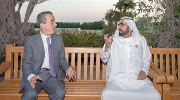 الشيخ محمد بن راشد خلال الحوار مع رئيس تحرير