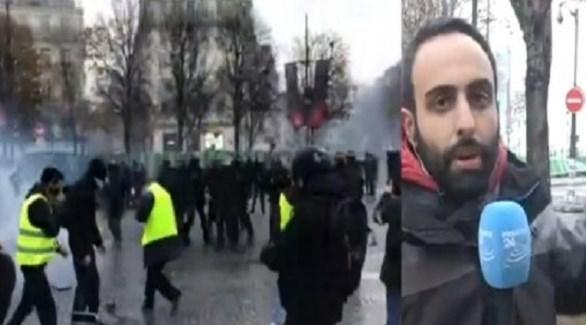 الشرطة الفرنسية تستخدم الغاز المسيل للدموع ضد متظاهري