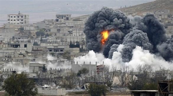 غارات علي إدلب بسوريا (أرشيف)