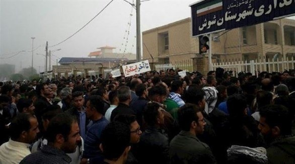 احتجاجات شعبية في إيران (تويتر)