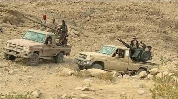 قوات من الجيش اليمني في مديرة كتاف (أرشيف)