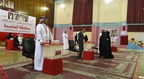 جانب من العملية الانتخابية في المنامة (أ ف ب)