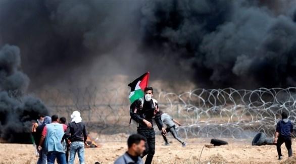 اشتباكات على السياج الحدودي في غزة (أرشيف)