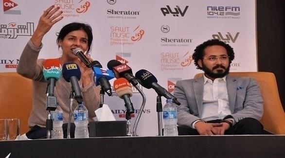 سعاد ماسي في مؤتمرها الصحافي لإعلان تفاصيل حفلها (24 - محمود العراقي)