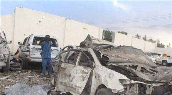 انفجار سيارة مفخخة في منطقة جالكايو الصومالية (تويتر)