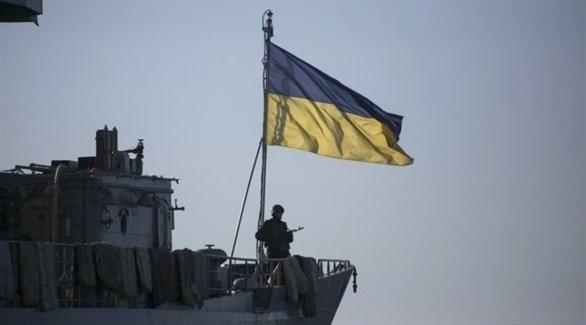 جندي أوكراني على متن سفينة حربية (أرشيف)