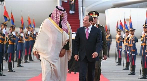 السيسي مستقبلاً محمد بن سلمان (أرشيف)