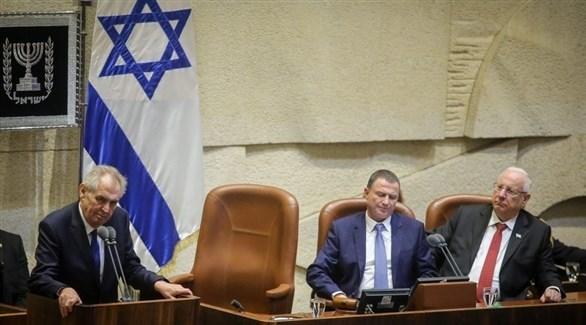 الرئيس التشيكي زيمان في الكنيست الإسرائيلي (أرشيف)