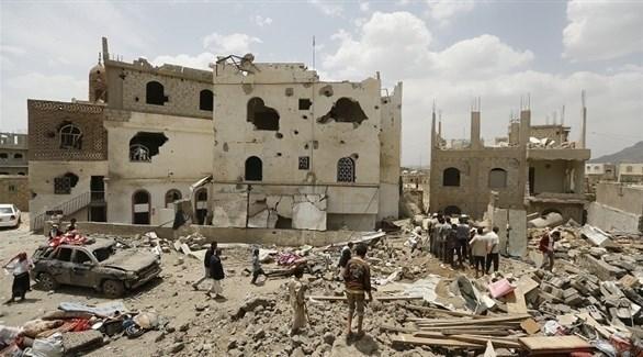 منازل دمرتها ميليشيات الحوثي في اليمن (أرشيف)