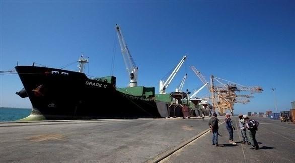 سفينة شحن في ميناء الحديدة (أرشيف)