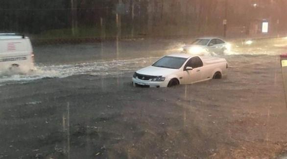 سيارات عالقة في المياه في سيدني (فرانس تي في إنفو)