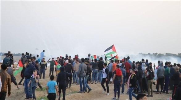 مسيرة العودة في غزة (تويتر)