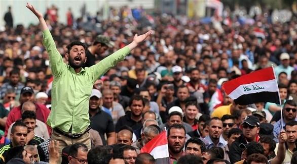 جانب من تظاهرات البصرة سابقاً (أرشيف)