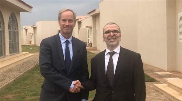 رئيس لجنة العقوبات التابعة للأمم المتحدة، ورئيس مؤسسة النفط الليبية (أرشيف)
