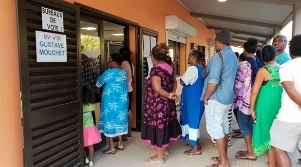 مقترعون يستعدون للتصويت على مصير كاليدونيا (تويتر)