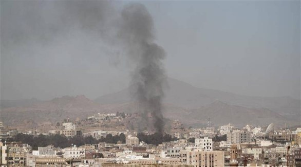 غارة سابقة للتحالف العربي على موقع حوثي في اليمن (أرشيف)