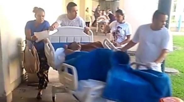إجلاء المرضى من المستفى بالبرازيل (أرشيف)