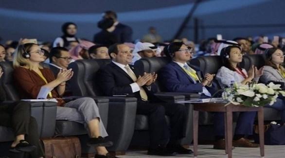 الرئيس عبد الفتاح السيسي في منتدى شباب العالم (تويتر)