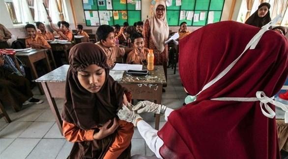 جانب من حملة تطعيم تلاميذ المدارس (أرشيف)