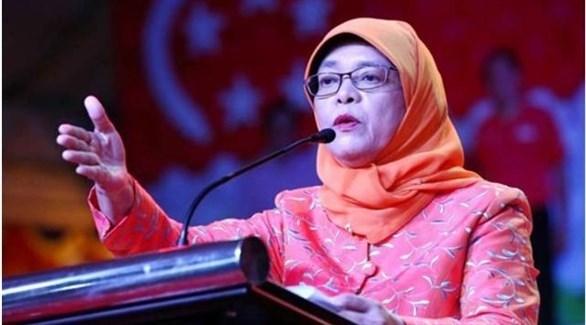 رئيسة سنغافورة حليمة يعقوب (أرشيف)