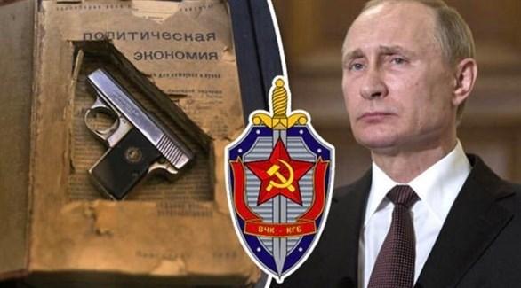 بوتين وشعار الشرطة السرية في روسيا (أرشيف)