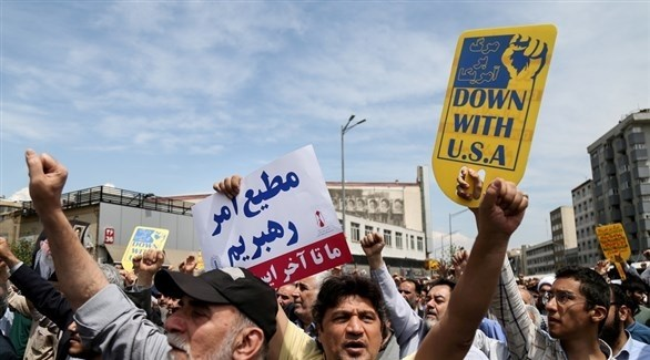 جانب من التظاهرات في طهران