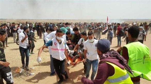 جريح فلسطيني من مسيرات العودة (أرشيف)