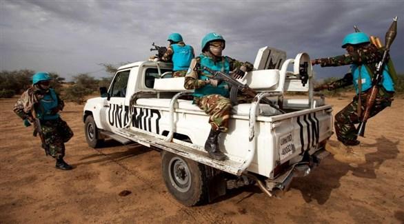 عناصر من يوناميد في دارفور (أرشيف)
