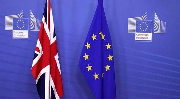 علما الاتحاد الأوروبي والمملكة المتحدة (أرشيف)
