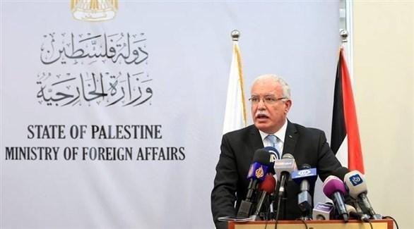 وزير الخارجية والمغتربين الفلسطينيين رياض المالكي (أرشيف)