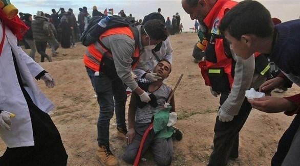 إصابة فلسطيني خلال مواجهات مع الاحتلال على حدود غزة (أرشيف)