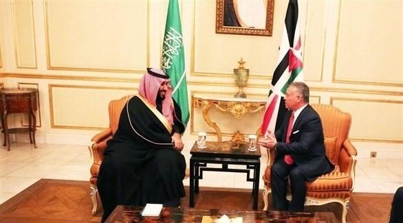 العاهل الأردني الملك عبدالله الثاني وولي عهد السعودية الأمير محمد بن سلمان (أرشيف)
